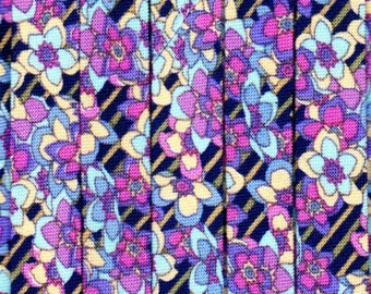 Double Fold Bias Tape - Floral Shadow from Blank Textiles