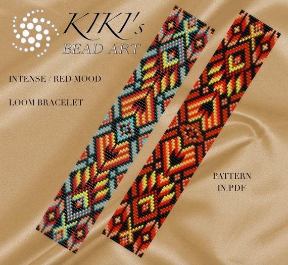 Bead Loom Pattern Intense Mood Loom Bracelet Pdf Pattern