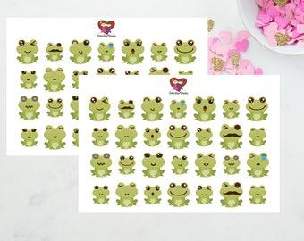 Kawaii Frogs/ Planner Stickers / Erin Condren / Kikki K