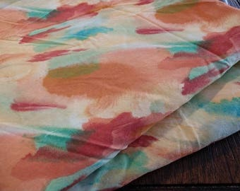 Vintage Abstract Watercolor Print Cotton Fabric BTY
