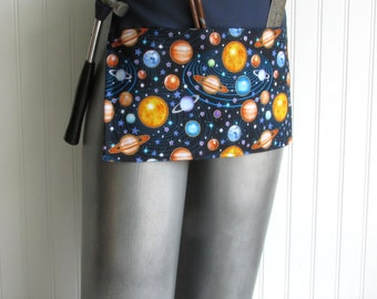 SALE- Canvas Utility Apron - Galaxy