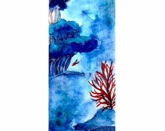Ocean Laminated Bookmark