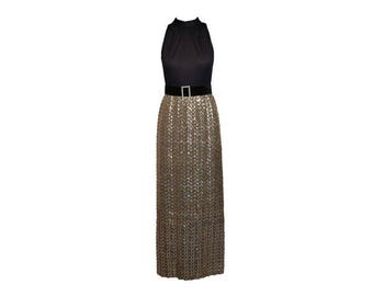 Vintage Gown With Sequin Skirt - Women's Size 4/6