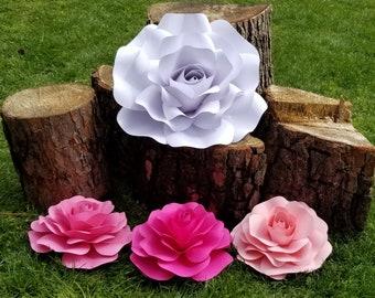 SVG paper Rose petal  template #7