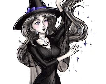 "Elegant Witch 8 x 10"" Matte Print"