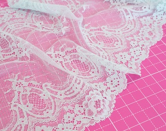 "1 m (1.09 yd) of Stretch lace - Mint - 23 cm (9"") Wide"