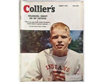 Colliers Magazine August 7 1948 Vintage Ephemera