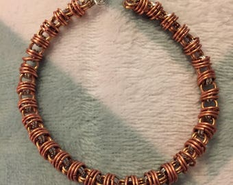 Tomyris Bracelet / Chainmail Bracelet in Copper, Brass, and Aluminum