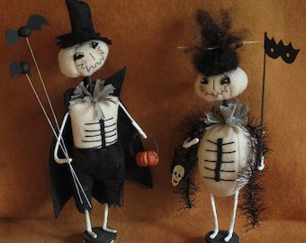 Edward and Juniper Skellies Halloween KIT by cheswickcompany