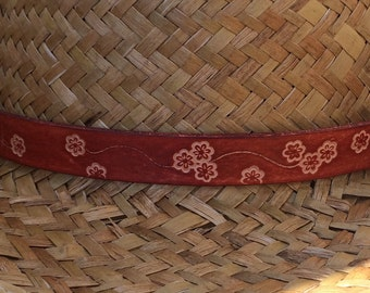 Leather Hatband Hand Stamped