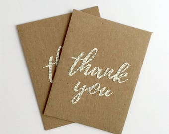 Thank You Cards Wedding Thank You Notes Greeting Cards Handmade Note Card Set Eco Friendly Packaging Thank You Note Cards recycled paper