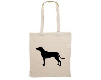 Canvas bag Rhodesian Ridgeback silhouette
