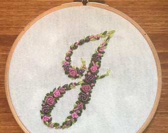 Fancy Rosesttes - Embroidered Letter