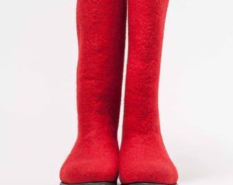 Felted boots, felt boots, Valenki, handmade