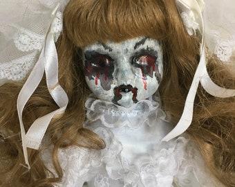 creepy bride doll, horror, zombie