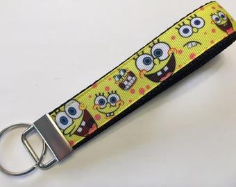 Sponge Bob Squarepants Key Fob Keychain wristlet