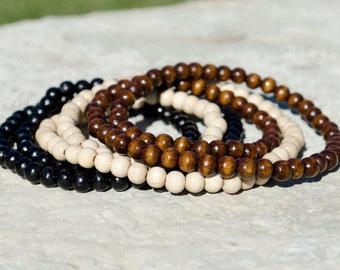 Small Wooden Bead Bracelet, Beaded Bracelet, Wooden Beads Bracelet, Beaded Bracelet Men, Beaded Bracelet Women, Wooden Bead Bracelet Women