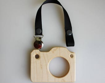 Wooden Camera Teether | Camera Teether | Wooden Teether | Baby Photography | Prop Teether