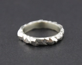Mini Facet Ring: Sterling Silver, 3mm
