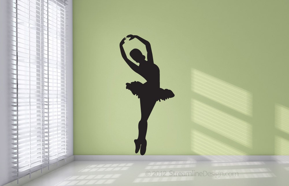 Ballet Dancer Silhouette Removable Vinyl Wall Art Decor girls