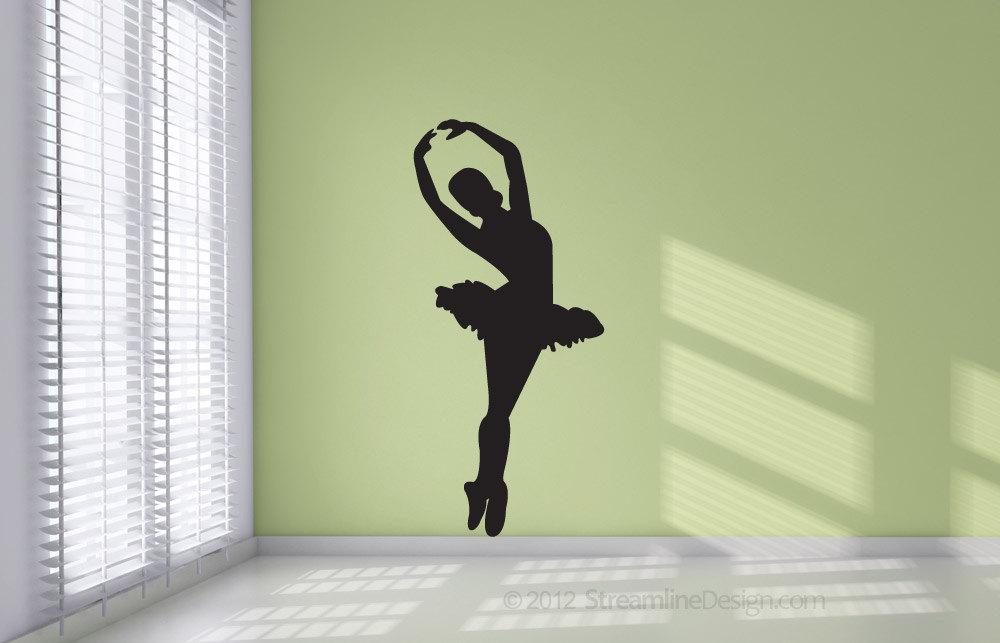 Ballet Dancer Silhouette Removable Vinyl Wall Art Decor girls
