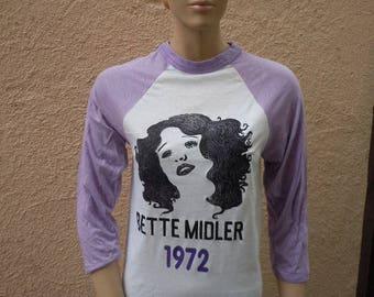 Size Women's S (35) ** Dated 1972 Bette Midler Shirt (Deadstock Unworn) (Single Sided)