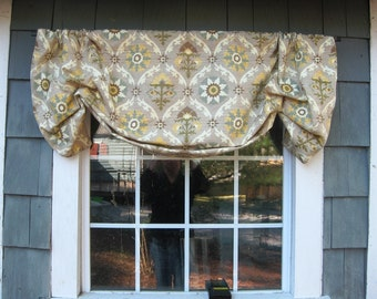 Valance Gathered Mock Faux Roman Rod Pocket Window Treatment