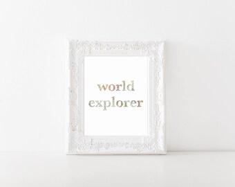World explorer World Map Printable, Digital Printable