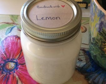 16 oz. Lemon Soy Candle- Hand Poured