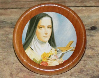 st Saint THERESA Pendant or Brooch or Ring or Earrings or Tie Tack or Cuff Links