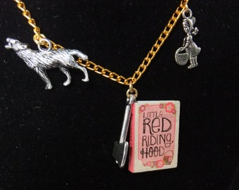 Little Red Riding Hood Book Necklace - Version 2 - Great Gift for Book Lovers!