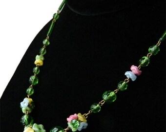 Vintage Italian Murano Glass Beaded Necklace