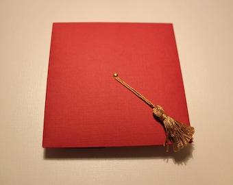 College Graduation Announcement Cap Invitation - Red, Highschool, College, 2018 - Grad Party Invitations