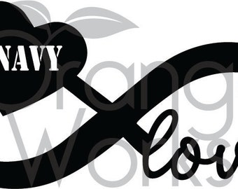 Navy Infinty Love SVG