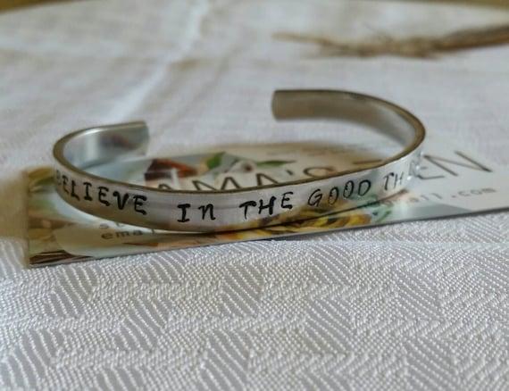 Inspirational Hand Stamped Bracelet
