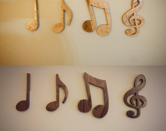 Wooden Music Notes