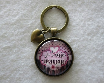 "Keychain ""I love you MOM"""