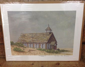 Saint Andrews By The Sea Signed Limited Edition Print by Artist FINI BEUNIS Outer Banks North Carolina