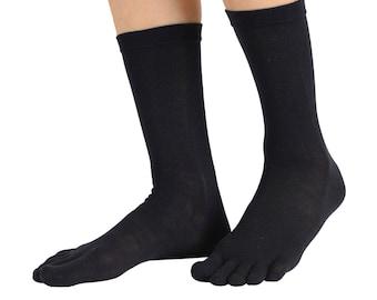 TOETOE - Essential - Silk Mid-Calf Toe Socks
