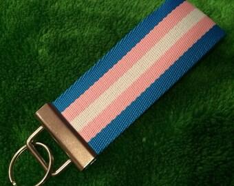 Transgender Pride Keychain