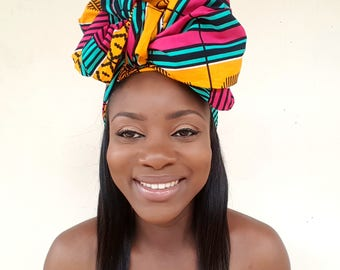African Print Head Wrap / Ankara Head Wrap / Surprise Gift / Turban / Wax Print / Kente