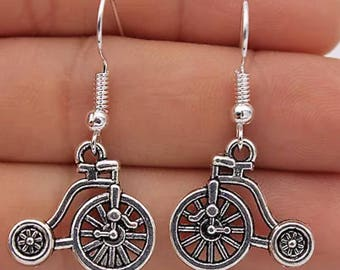 Old Time Bicycle Earrings   R59