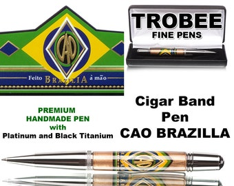 Cigar band pen - CAO Brazillia, top rated for for excellence, great gift idea for him