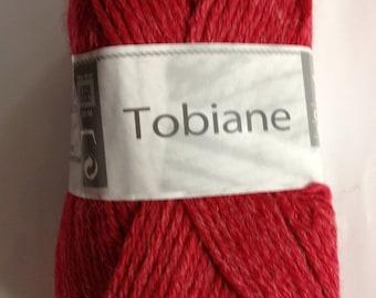 yarn Alpaca TOBIANE No. 87 color Strawberry with white horse