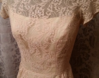 Vintage Peace Lace Overlay Dress