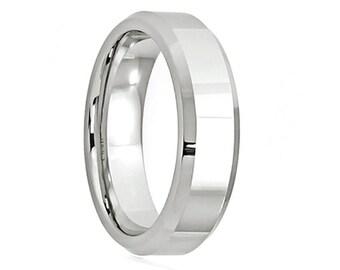Cobalt Wedding Band,Cobalt Wedding Ring,Anniversary Ring,Brushed Polish,Beveled,Engagement Band,Handmade,His,Hers,Custom