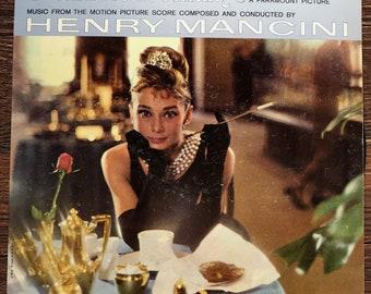 Breakfast at Tiffany's movie soundtrack vintage album LP, Audrey Hepburn, Henry Mancini. Moon River, 1961