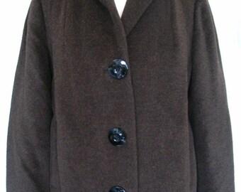Nayy Tex Britain Brown Wool Plush Coat Size M-L