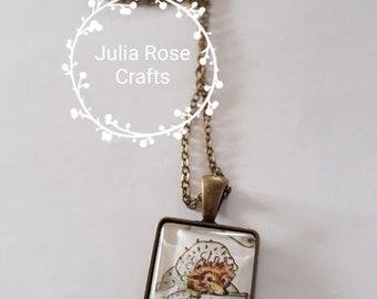 Hedgehog pendant necklace