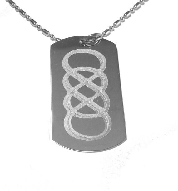 Double Infinity Math Tv Show Logo Symbol Military Dog Tag